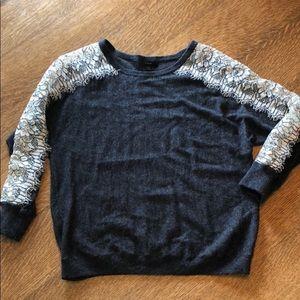 J. Crew Lace/Wool Sweater